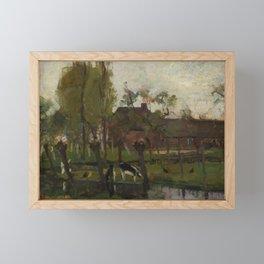 Piet Mondrian - Farmstead with willows on the water II Framed Mini Art Print