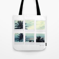 Polaroid Collage 'Palms' Tote Bag