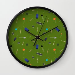 Circuit Elements - Green Wall Clock