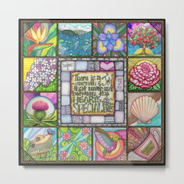My Patchwork Friendship Squares Metal Print