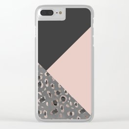 Leopard Geometric Glam #1 #minimal #decor #art #society6 Clear iPhone Case