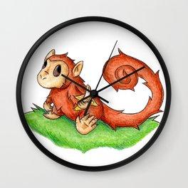Banana Monkey Wall Clock