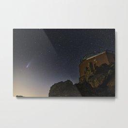 Comet Neowise and Mojon del Trigo Observatory 2.600 meters high. Sierra Nevada National Park Metal Print