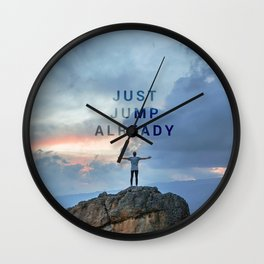 Just Jump Already Wall Clock