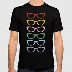 Glasses #3 Black Mens Fitted Tee MEDIUM