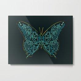 Mechanical Butterfly Metal Print