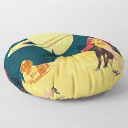 Yellow Summit Floor Pillow