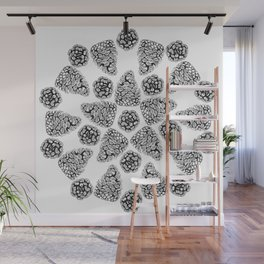 The Art of Pinecones Wall Mural