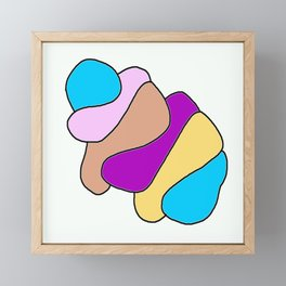 Colors jellyfish Framed Mini Art Print