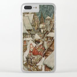 Santa's sleigh Clear iPhone Case