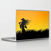 samurai Laptop & iPad Skins featuring samurai by naughty ogre