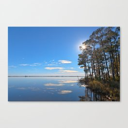 Blackwater Sunburst Marsh Canvas Print