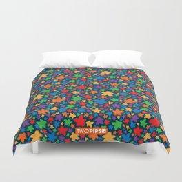 Funky Meeple Pattern Duvet Cover
