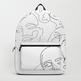Lined Face Sketches Backpack