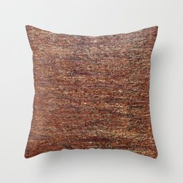 Old golden red grunge background Throw Pillow