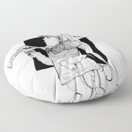 Bad Usagi - Sailor Moon Fanart Floor Pillow