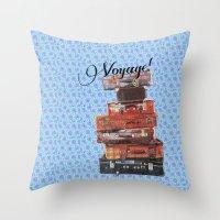 voyage Throw Pillows featuring VOYAGE! by Ylenia Pizzetti