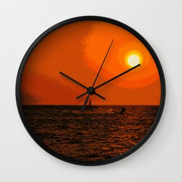 kitesurfing Wall Clock