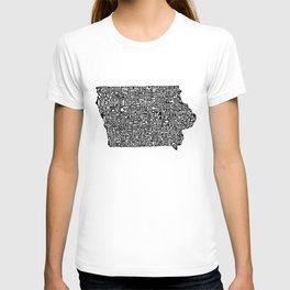 Typographic Iowa T-shirt