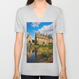 Lower Slaughter (The Cotswolds) Unisex V-Neck
