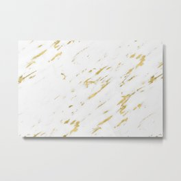 Marble - Yellow Gold Marble Design Metal Print