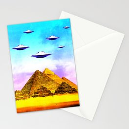 Aliens Built it Stationery Cards