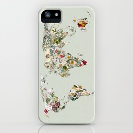 Vintage Botanical World Green iPhone Case