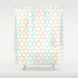 Star Of David Pattern  #society6 #decor #buyart #artprint Shower Curtain