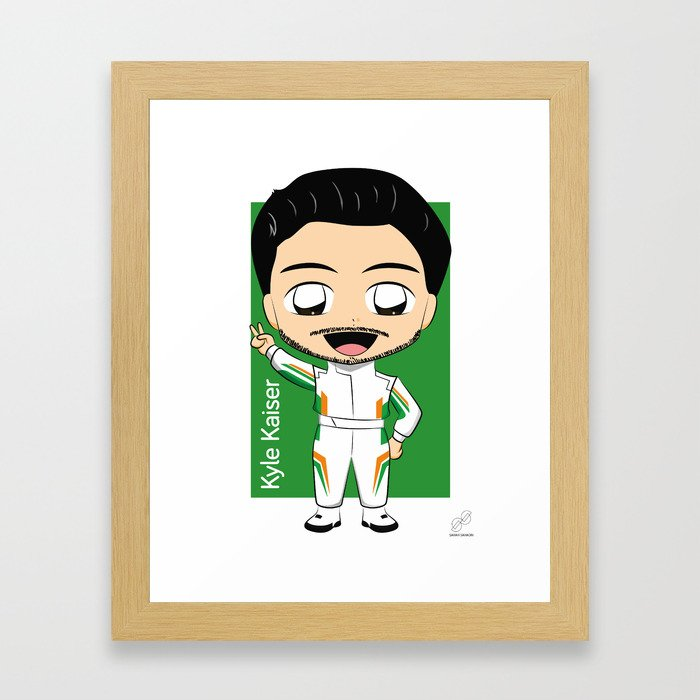 Chibi Kyle Kaiser - Juncos Racing - 2018 Verizon IndyCar Series Framed Art Print