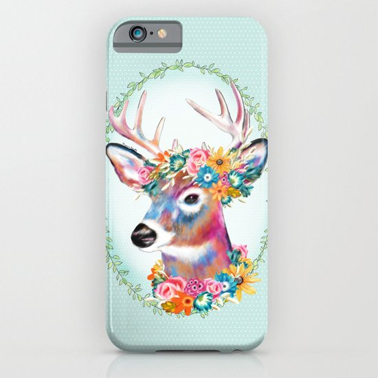 Floral Deer iPhone & iPod Case