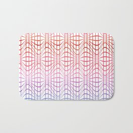 Straight and curved lines - Optical Game 19 Bath Mat