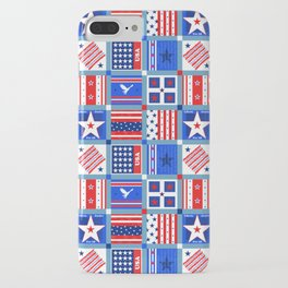 4th July Patchwork iPhone Case