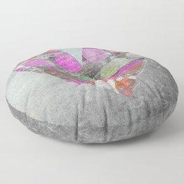 Passion Grey Mixed Media Heart Art Floor Pillow