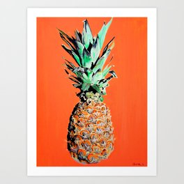 Pineapple pop art painting Art Print