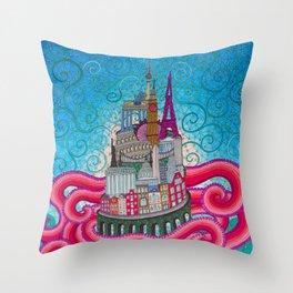 babel tower Throw Pillow