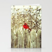 cardinal Stationery Cards featuring cardinal by Bonnie Jakobsen-Martin