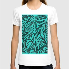 pattern with black shapes T-shirt