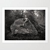 oscar wilde Art Prints featuring Oscar Wilde by Romeo & Rebeccah