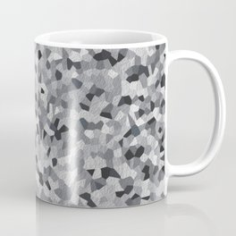 white irregular shape pattern Coffee Mug