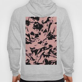 Old Rose Black Abstract Military Camouflage Hoody