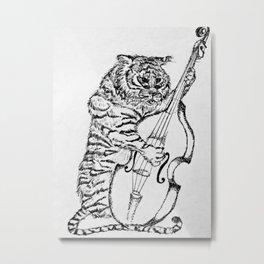 Tiger and Bass Metal Print