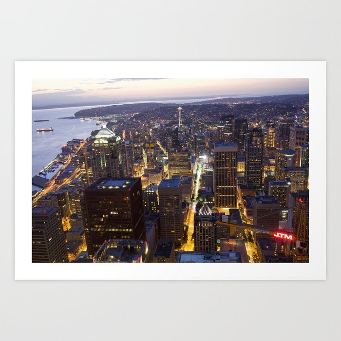 Seattle Skyline (Inner City) Art Print