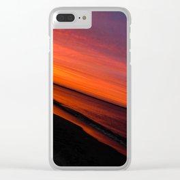 Violent Orange Clear iPhone Case