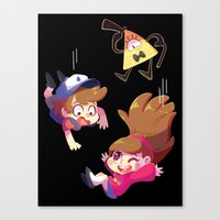 gravity falls Canvas Prints featuring Gravity Falls by ChocoChaoFun