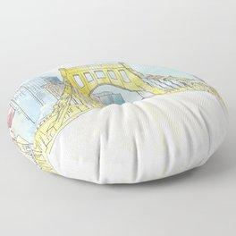 Roberto Clemente Bridge Floor Pillow