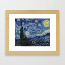 THE STARRY NIGHT - VAN GOGH Framed Art Print