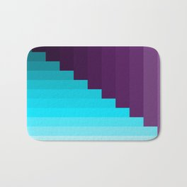 Ups and Down | Deep Within | Purple | Blue | Turquoise Bath Mat