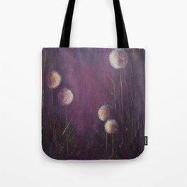 purple dandelions Tote Bag