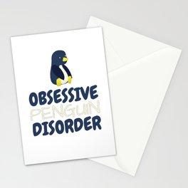 Obsessive Penguin Disorder Stationery Cards