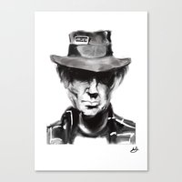 neil young Canvas Prints featuring Neil Young by Be Sound Art
